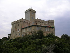 English: Castle of Baron Sidney Sonnino near L...