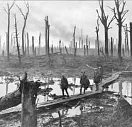 Australische soldaten, 29 oktober 1917. Foto van Frank Hurley.