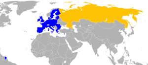 English: EU-Rusia locator. Español: Localizaci...