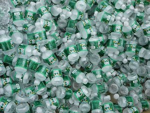 Lots of bottled water