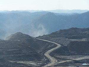 A picture of a mountaintop removal siteWork co...