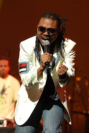 Soca singer Machel Montano performing at the 2...