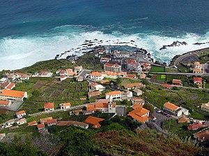 Porto Moniz, Madeira, looking NNE. Near the se...