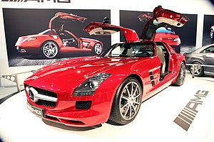 Mercedes-Benz SLS AMG at LA Auto Show 2009.