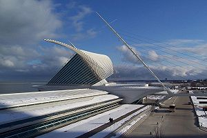 The Quadracci Pavilion of the Milwaukee Art Mu...