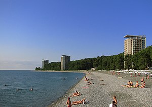 English: beach () Русский: Пицунда, пляж ()