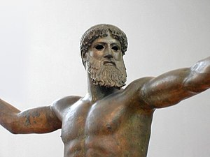 Bronze sculpture, thought to be either Poseido...