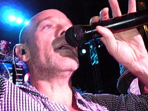 Michael Stipe in concert with R.E.M. in Naples...