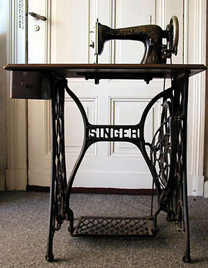 A Singer treadle sewing machine