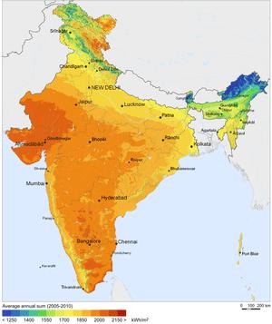 Solar Resource Map