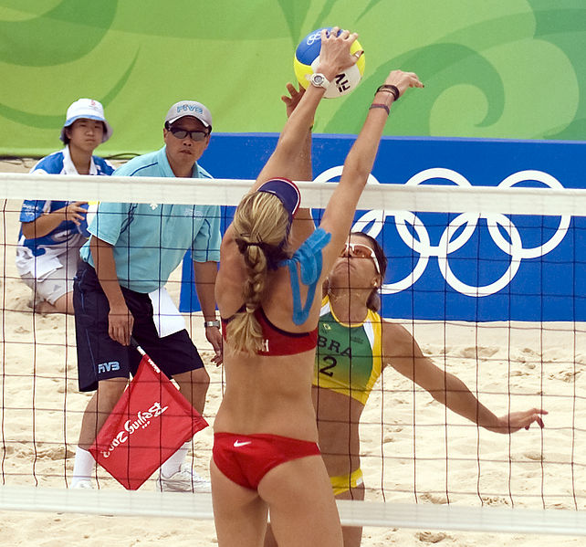 KT tape beach volleyball Olympics