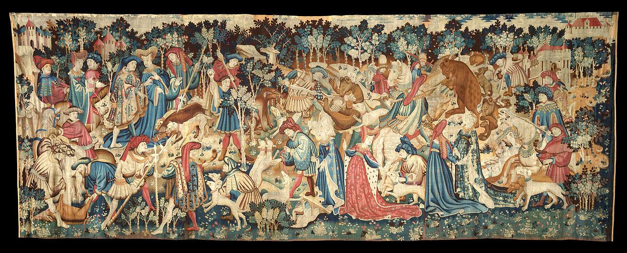 Istorija odevnih predmeta - Page 5 1280px-The_Devonshire_Hunting_Tapestries%3B_Boar_and_Bear_Hunt_-_Google_Art_Project