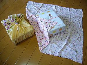 Traditional Japanese wrapping cloth,furoshiki,...