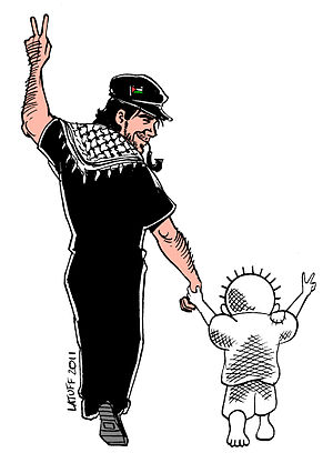 English: Portrait of Vittorio Arrigoni and Han...