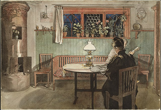 När barnen lagt sig 1894 door Carl Larsson via Wikimedia Commons