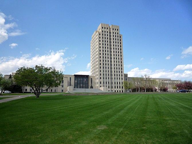 English: North Dakota State Capitol, Bismarck,...