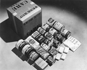 The content of a CARE Package in West Germany 1948