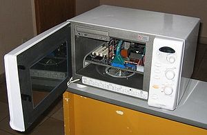 English: Casemodding microwave