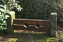 The old stocks at :en:Chapeltown, Lancashire. ...