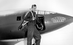 Chuck Yeager with Bell X-1.