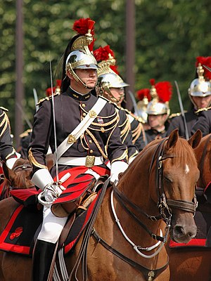 English: Horseman of the French Republican Gua...