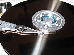 A hard disk head and platter
