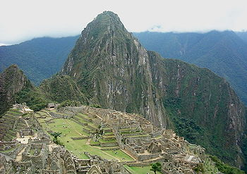 Picture of Machu Picchu taken in the morning. ...