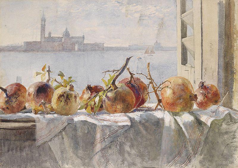 File:Marie Egner Granatäpfel auf einer Fensterbank.jpg