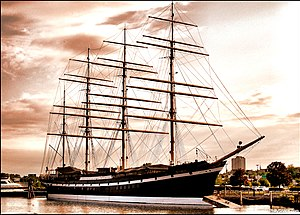 The four-masted barque Moshulu, the ship on wh...