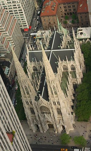 St. Patricks Cathedral. Taken from Rockefellar...