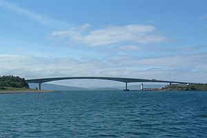 The Skye Bridge that links Kyle of Lochalsh to...
