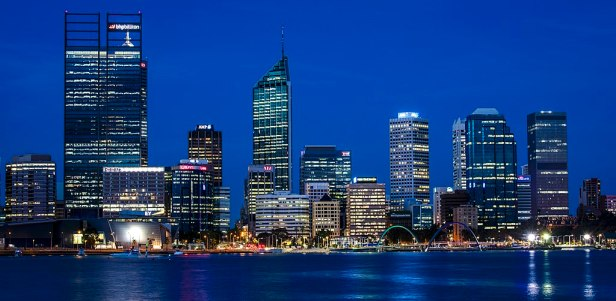 The Perth skyline in January 2016