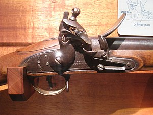 "British ""Brown Bess"" flintlock muske..."