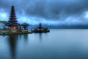 Ulun Danu Temple, located inBratan Lake