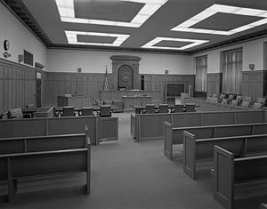 English: Courtroom at federal courthouse build...