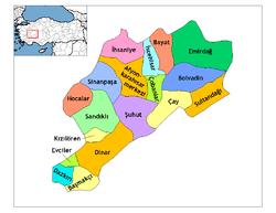 Afyonkarahisar Siyasi Haritası