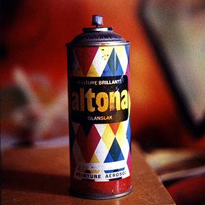 A spray can of paint (brand : Altona)