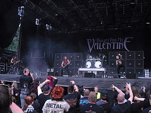 English: Bullet for My Valentine performing li...