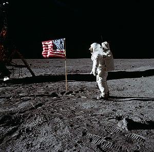 Astronaut Buzz Aldrin, lunar module pilot of t...