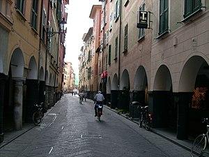 Via Vittorio Veneto, centro storico di Chiavar...
