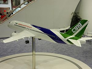 English: Model of the Comac C919
