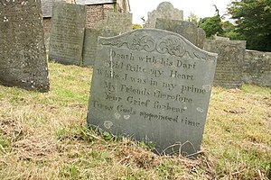English: Epitaph to William Causey One of seve...