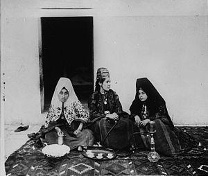 women at home gossip Beithlehem Palestine