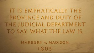 First Floor at the Statute of John Marshall, q...