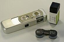 Minox Iiis Camera With A Cartridge Of Film
