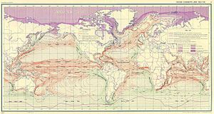 English: Ocean Currents and Sea Ice from Atlas...