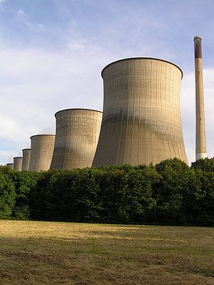 Cooling towers of the e.on power plant