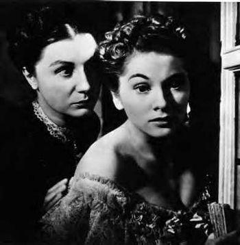 A screenshot of Judith Anderson and Joan Fonta...