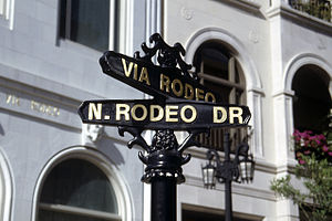Street sign of Rodeo Drive, Beverly Hills, CA