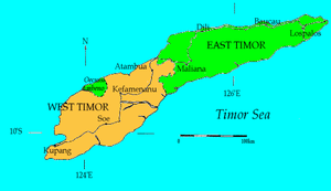 Map of Timor, designed by Boffin